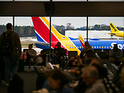 17 FEBRUARY 2020 - ATLANTA, GEORGIA:   Aircraft traffic on the tarmac at Atlanta's Hartsfield–Jackson Atlanta International Airport, the world's busiest airport by passenger count.  PHOTO BY JACK KURTZ