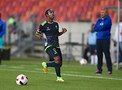 Luvolwethu Mpeta of Platinum Stars during the 2016 Premier Soccer League match between Chippa United and Platinum Stars held at the Nelson Mandela Bay Stadium in Port Elizabeth, South Africa on the 28th October 2016<br />