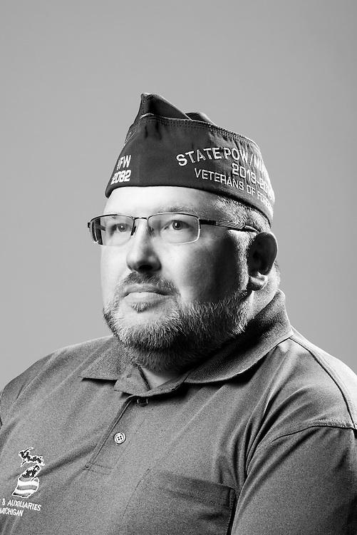 Wayne I. Ball<br /> Navy<br /> E-6<br /> Yeoman<br /> Sept. 1982 - Sept. 2002<br /> Lebanon, Persian Gulf<br /> <br /> Veterans Portrait Project<br /> St. Louis, MO