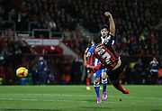 Marc Pugh scores a goal during the Sky Bet Championship match between Bournemouth and Brighton and Hove Albion at the Goldsands Stadium, Bournemouth, England on 1 November 2014.