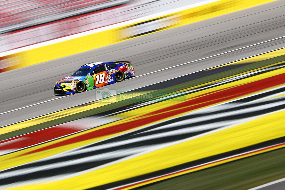 March 2, 2018 - Las Vegas, Nevada, United States of America - March 02, 2018 - Las Vegas, Nevada, USA: Kyle Busch (18) takes to the track to practice for the Pennzoil 400 at Las Vegas Motor Speedway in Las Vegas, Nevada. (Credit Image: © Justin R. Noe Asp Inc/ASP via ZUMA Wire)