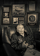 "Cdr. Leroy Robinson flew in WWII and Korea as a naval aviator.  A confirmed ""Ace,"" he was later a Delta Airlines Captain for 32 years.   Created by aviation photographer John Slemp of Aerographs Aviation Photography. Clients include Goodyear Aviation Tires, Phillips 66 Aviation Fuels, Smithsonian Air & Space magazine, and The Lindbergh Foundation.  Specialising in high end commercial aviation photography and the supply of aviation stock photography for commercial and marketing use."