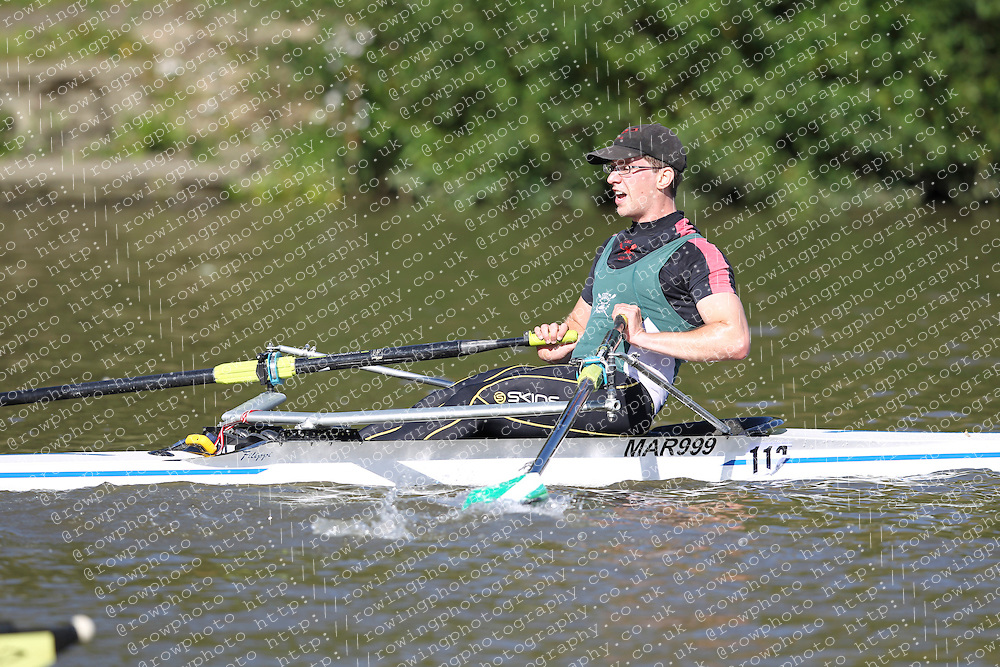 29.09.2012. Wallingford Long Distance Sculls 2012, The River Thames. Division 1. IM2 1x. City of Bristol Rowing Club.