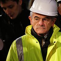 Sergio Chiamparino, presidente della Regione Piemonte dal 9 giugno 2014<br /> <br /> Traforo del Frejus 17/11/2014, abbattimento dell'ultimo diaframma della seconda canna del tunnel autostradale che collega l'Italia alla Francia attraverso le valli di Susa e Maurienne.