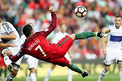 August 31, 2017 - Venice, Porto, Italy - Portugal's forward Cristiano Ronaldo score a goal during the FIFA World Cup Russia 2018 qualifier match between Portugal and Faroe Islands at Bessa Sec XXI Stadium on August 31, 2017 in Porto, Portugal. (Credit Image: © Dpi/NurPhoto via ZUMA Press)