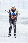 Schladming, Austria - 2017 March 20: Lovisa Danielsson from SO Sweden competes in Cross Country Race while Special Olympics World Winter Games Austria 2017 in Ramsau am Dachstein on March 20, 2017 in Schladming, Austria.<br /> <br /> Mandatory credit:<br /> Photo by &copy; Adam Nurkiewicz / Mediasport<br /> <br /> Adam Nurkiewicz declares that he has no rights to the image of people at the photographs of his authorship.<br /> <br /> Picture also available in RAW (NEF) or TIFF format on special request.<br /> <br /> Any editorial, commercial or promotional use requires written permission from the author of image.<br /> <br /> Image can be used in the press when the method of use and the signature does not hurt people on the picture.