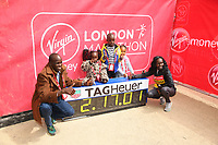 Mary Keitany KEN celebrates her World Record with her family. The Virgin Money London Marathon, 23rd April 2017.<br /> <br /> Photo: Ben Queenborough for Virgin Money London Marathon<br /> <br /> For further information: media@londonmarathonevents.co.uk