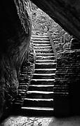 A stone staircase at Sigiriya