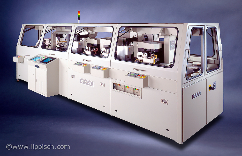 Large printing machine photographed on location. The background was added digitally.