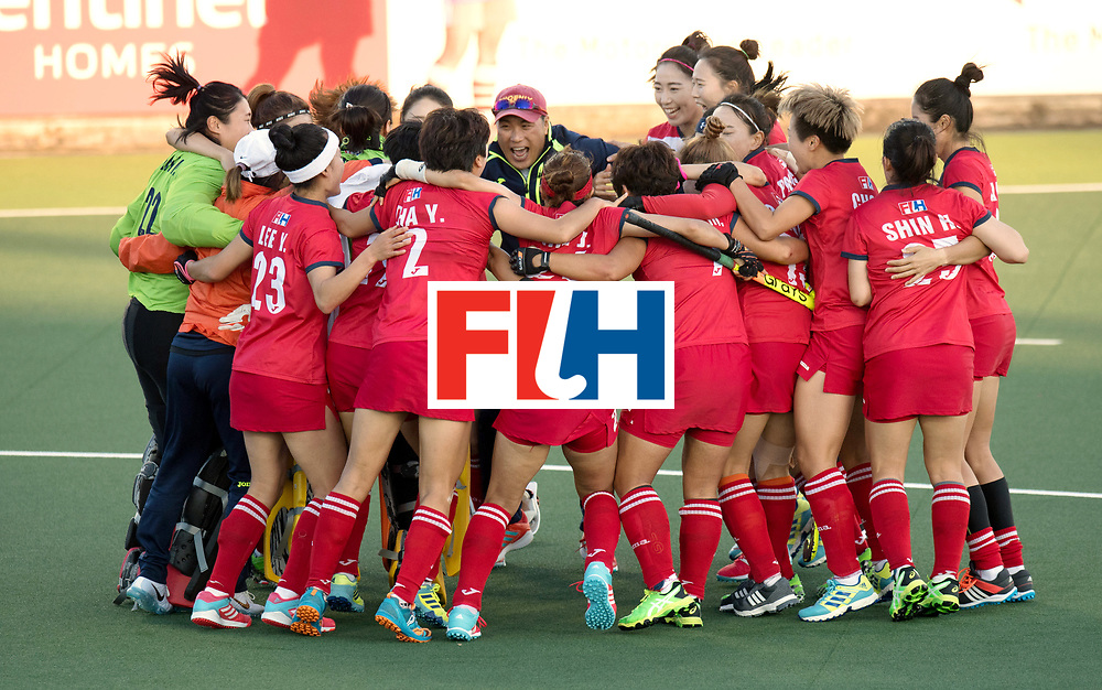 AUCKLAND - Sentinel Hockey World League final women<br /> Match id: 10303<br /> 13 GER v KOR (QF) 3-3<br /> Korea in to semi after shoot out.<br /> Foto: Korea wins shoot out.<br /> WORLDSPORTPICS COPYRIGHT FRANK UIJLENBROEK