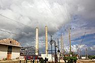 Sugar mill in Rafael Freyre, Holguin, Cuba.