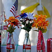 Memorials are seen outside of Graceland Too in Holly Springs, Miss., Tuesday, Aug. 12, 2014. (Photo/Thomas Graning)