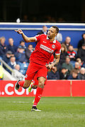 Charlton Athletic midfielder Jordan Cousins (8) celebrates his goal quickly during the Sky Bet Championship match between Queens Park Rangers and Charlton Athletic at the Loftus Road Stadium, London, England on 9 April 2016. Photo by Andy Walter.