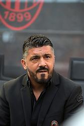 October 7, 2018 - Milan, Milan, Italy - head coach of AC Milan Gennaro Gattuso before the serie A match between AC Milan and Chievo Verona at Stadio Giuseppe Meazza on October 7, 2018 in Milan, Italy. (Credit Image: © Giuseppe Cottini/NurPhoto/ZUMA Press)