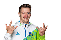 Luka Kisek at official photoshoot of Slovenian Gymnastics team prior to 2018 Koper Challenge Cup, on May 14, 2018 in Gimnasticna dvorana, Ljubljana, Slovenia. Photo by Matic Klansek Velej / Sportida