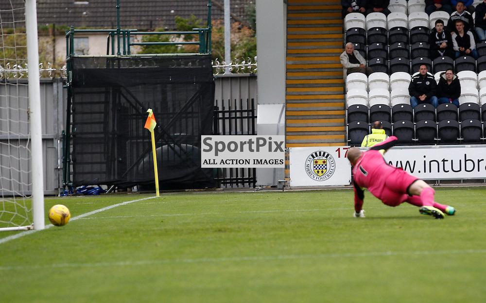 St.Mirren v Dunfermline Athletic, PETROFAC TRAINING CUP 1/4 Final 10th October 2015....Stevie Mallan scores...(c) STEPHEN LAWSON | SportPix.org.uk