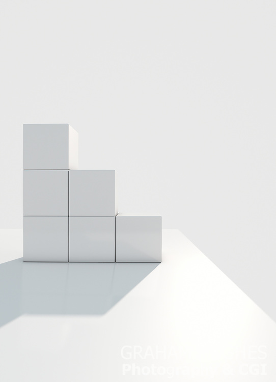 White Building Blocks Showing Growth