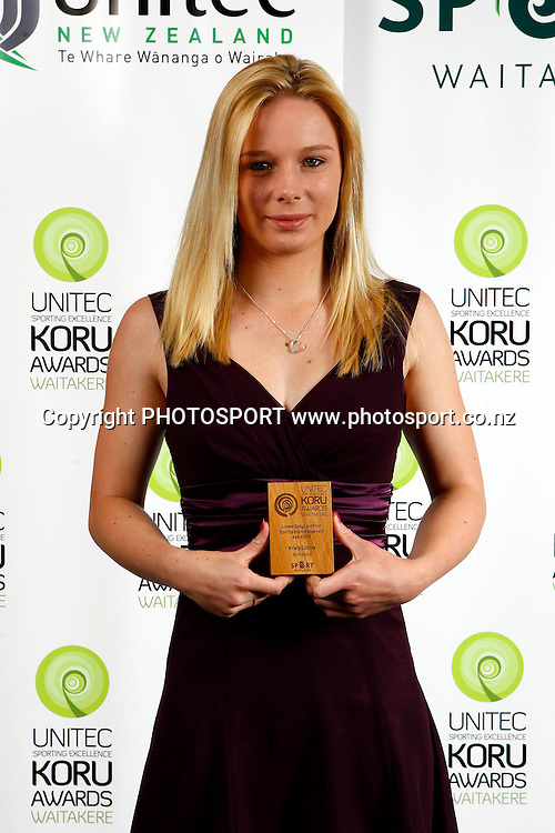 Kirsty Collins, Unitec, Waitakere Sporting Excellence, Koru Awards. Genesis Lounge, Trusts Stadium, Waitakere City, Auckland, 27 November 2009. Photo: William Booth/PHOTOSPORT