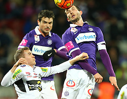 12.12.2015, Generali Arena, Wien, AUT, 1. FBL, FK Austria Wien vs Cashpoint SCR Altach, 20. Runde, im Bild Lukas Jaeger (Cashpoint SCR Altach), Vanche Shikov (FK Austria Wien) und Alexander Gorgon (FK Austria Wien) // during Austrian Football Bundesliga Match, 20th Round, between FK Austria Vienna and Cashpoint SCR Altach at the Generali Arena, Vienna, Austria on 2015/12/12. EXPA Pictures © 2015, PhotoCredit: EXPA/ Thomas Haumer
