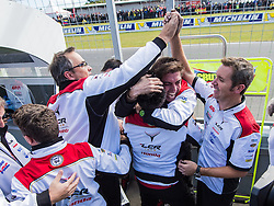 October 23, 2016 - Melbourne, Victoria, Australia - The LCR Honda team celebrate British rider Cal Crutchlow (#35) of LCR Honda winning the MotoGP category race at the 2016 Australian MotoGP held at Phillip Island, Australia. (Credit Image: © Theo Karanikos via ZUMA Wire)