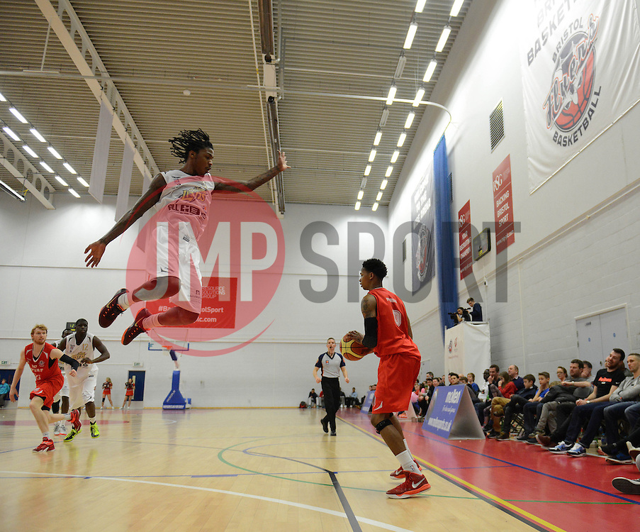 Bristol Flyers' Bree Perine - Photo mandatory by-line: Dougie Allward/JMP - Mobile: 07966 386802 - 28/03/2015 - SPORT - Basketball - Bristol - SGS Wise Campus - Bristol Flyers v London Lions - British Basketball League