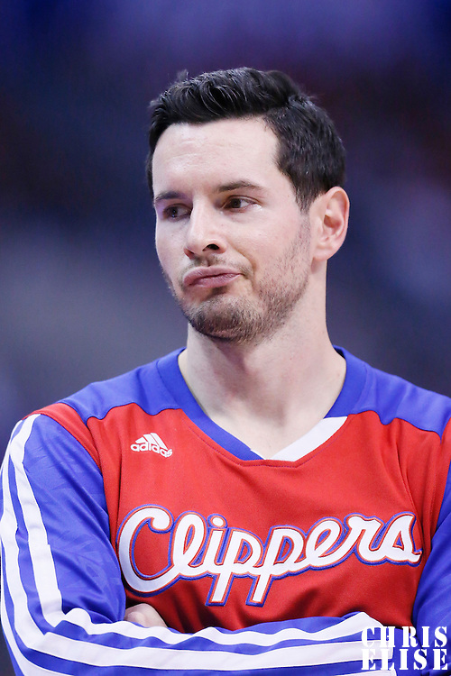 15 April 2014: Los Angeles Clippers guard J.J. Redick (4) is seen during the Los Angeles Clippers 117-105 victory over the Denver Nuggets at the Staples Center, Los Angeles, California, USA.