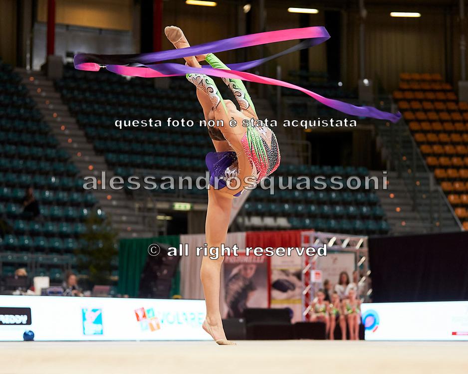 Giulia Turolla from Eurogymnica Torino team during the Italian Rhythmic Gymnastics Championship in Bologna, 9 February 2019.