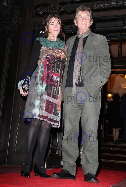 John Hurt; Ann Rees Meyers London Evening Standard British Film Awards 2011, Marriott Hotel, London, UK, 07 February 2011: Contact: Ian@Piqtured.com +44(0)791 626 2580 (Picture by Richard Goldschmidt)