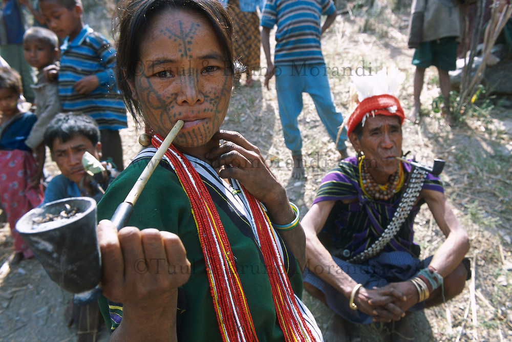 Myanmar (ex Birmanie), Province de Chin, Village d'ethnie Chin // Myanmar (Burma), Chin province, Chin ethnic group in the village