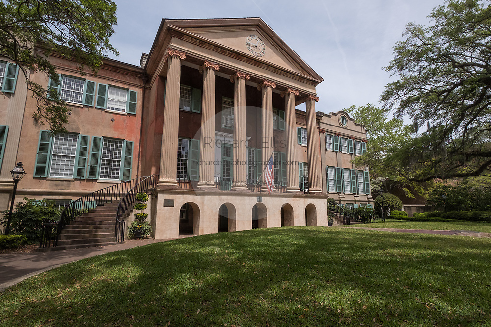 Randolph Hall in the Cistern yard at the College of Charleston in Charleston, South Carolina. The college is a public, sea-grant and space-grant university located in historic downtown Charleston, South Carolina. Founded in 1770 and chartered in 1785, the university's name reflects its history as the oldest college in South Carolina and the oldest municipal college in the country.