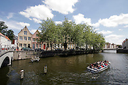 Tourist boat on the canal in Brugge ..., Travel, lifestyle