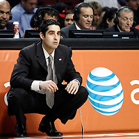 16 March 2012: Portland Trail Blazers head coach Kaleb Canales is seen during the Portland Trail Blazers 100-89 victory over the Chicago Bulls at the United Center, Chicago, Illinois, USA.