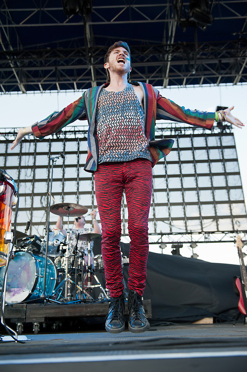 Nicholas Petricca of Walk the Moon performs at Bunbury Music Festival at Yeatman's Cove in Cincinnati, Ohio on July 12, 2013.