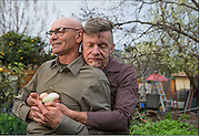 Portrait of the AIDS Generation - Ralph Thurlow, left, and David Spiher, have been married for 12 years and live in Hayward, CA. Spiher has been living with HIV for 30 years HIV and 18 years with AIDS, while Thurlow has had AIDS for 12 years and has HIV related dementia, at their home in Hayward, CA.