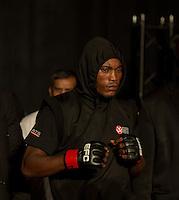 Koba Iokobidze vs. Kanyeba Anicet. Fight 3 at EFC Worldwide 36, Featherweight, The Dome, Northgate, Johannesburg. <br /> (Photo by Anton Geyser / EFC Worldwide 2014)