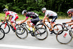 Jon Bozic (SLO) of KK Adria Mobil, Ziga Jerman (SLO) of Rog - Ljubljana, Matthias Krizek (AUT) of Tirol Cycling Team during Stage 1 of 24th Tour of Slovenia 2017 / Tour de Slovenie from Koper to Kocevje (159,4 km) cycling race on June 15, 2017 in Slovenia. Photo by Vid Ponikvar / Sportida