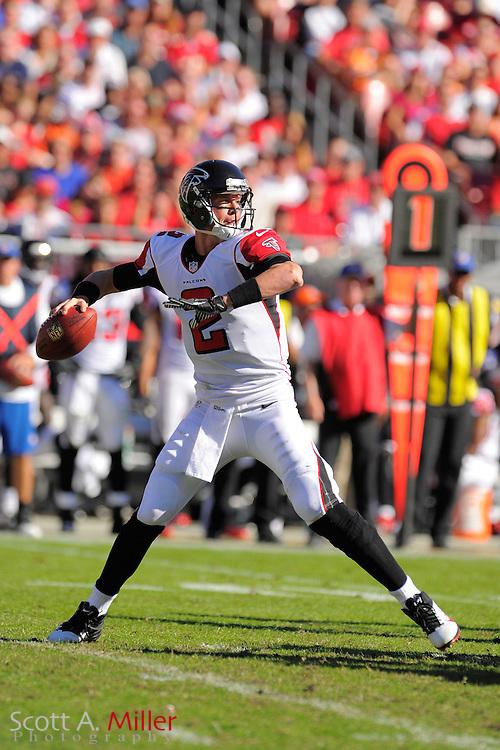 Atlanta Falcons quarterback Matt Ryan (2) during an NFL game against the Tampa Bay Buccaneers at Raymond James on November 25, 2012 in Tampa, Florida. ...©2012 Scott A. Miller.