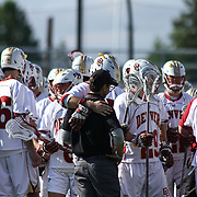 Denver players celebrate a 15-6 victory over Drexel in a NCAA Division I Men's Lacrosse Tournament game  Sunday, May. 18, 2014 at Delaware Stadium in Newark, DEL