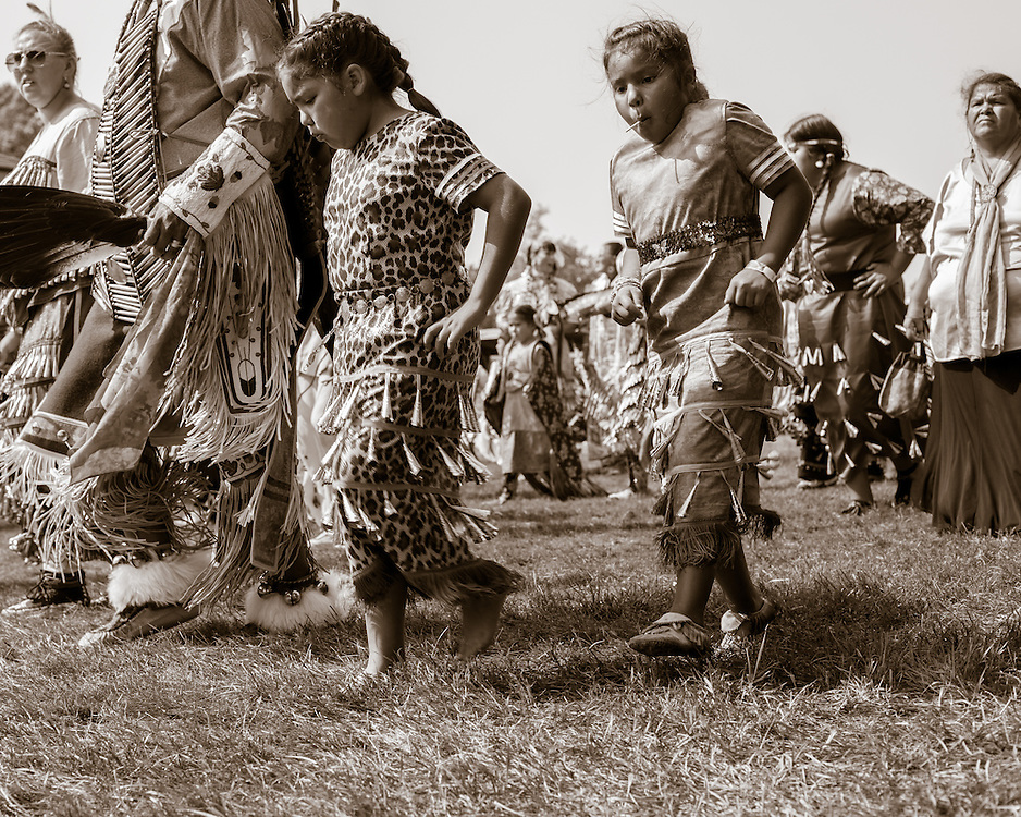 Native American dancers at the Bad River Pow Wow.