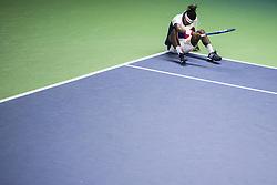 October 16, 2017 - Stockholm, SVERIGE - 171016 Sveriges Mikael Ymer deppar i första omgÃ¥ngen av tennisturneringen Stockholm Open den 16 april 2017 i Stockholm  (Credit Image: © Johanna Lundberg/Bildbyran via ZUMA Wire)