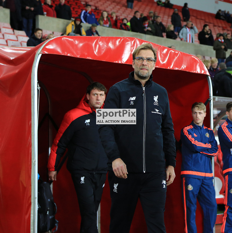 Jürgen Klopp emerges from the dressing room looking focused on the Sunderland FC v Liverpool FC English Premier League 30th March 2015...©Edward Linton   SportPix.org.uk