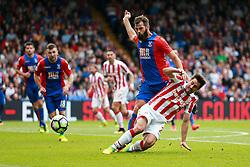 Joe Ledley of Crystal Palace falls over Bojan Krkic of Stoke City - Mandatory by-line: Jason Brown/JMP - 18/09/2016 - FOOTBALL - Selhurst Park - London, England - Crystal Palace v Stoke City - Premier League