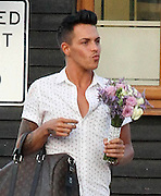 06.JULY.2013. ESSEX<br /> <br /> TOWIE FILMS ITS FIRST  WEDDING AS MARK WRIGHT, SR. AND CAROL WRIGHT RENEW THEIR WEDDING VOWS IN FRONT OF FAMILY AND FRIENDS, MARK AND CAROL HAD THEIR SON JOSH WHO PLAYS FOR MILLWALL FC AND DAUGHTER JESSICA ATTENDED BUT THEIR WAS NO SIGN OF THEIR SON, MARK WRIGHT, WHO IS CURRENTLY DATING MICHELLE KEGAN. TOWIE CAST MEMBER MARIO FALCONE, SAM AND BILLIE FAIERS, BOBBY NORRIS, CHARLIE KING, CHLOE SIMS, FRANKIE ESSEX, LITTLE CHRIS, FERNE MCCANN AND BOYFRIEND CHARLIE SIMS, DIAGS AND JOEY ESSEX ALL ATTENDED THE CEREMONY AT RAYLEIGH GOLF CLUB IN ESSEX. FOOD WAS SEEN ARRIVING FOR THE EVENING PARTY IN THE BOOT OF A CAR WITH FOOD FROM SAINSBURYS.<br /> <br /> BYLINE: EDBIMAGEARCHIVE.CO.UK<br /> <br /> *THIS IMAGE IS STRICTLY FOR UK NEWSPAPERS AND MAGAZINES ONLY*<br /> *FOR WORLD WIDE SALES AND WEB USE PLEASE CONTACT EDBIMAGEARCHIVE - 0208 954 5968*