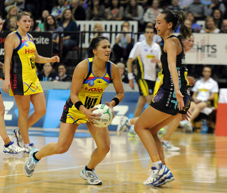 Pulses' Liana Leota against the Magic in the ANZ Netball Champions at TSB Stadium, Wellington, New Zealand, Sunday, April 28, 2013. Credit:SNPA / Ross Setford