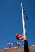light post with a No Standing Anytime traffic sign America New York