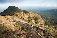 Young women hiking in Saddle Mountain State Park, OR