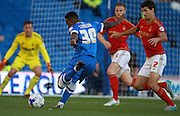 Kazenga Lualua shoots for goal during the Sky Bet Championship match between Brighton and Hove Albion and Nottingham Forest at the American Express Community Stadium, Brighton and Hove, England on 7 August 2015.