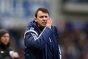Dougie Freedman wins his first game in charge of Nottingham Forest in  the Sky Bet Championship match between Brighton and Hove Albion and Nottingham Forest at the American Express Community Stadium, Brighton and Hove, England on 7 February 2015.