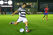 Forest Green Rovers Fabien Robert(26) crosses the ball during the Vanarama National League match between Aldershot Town and Forest Green Rovers at the EBB Stadium, Aldershot, England on 4 October 2016. Photo by Shane Healey.