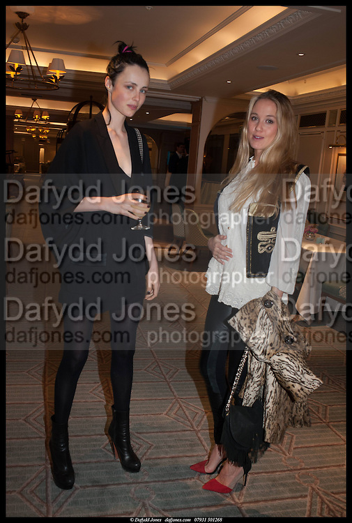 EDIE CAMPBELL; FLORENCE BRUDENELL-BRUCE, Alice in her Palace party, Alice Naylor-Leyland launch of her  blog, Alice in her Palace, Drawing Room at Fortnum & Mason. 27 March 2014
